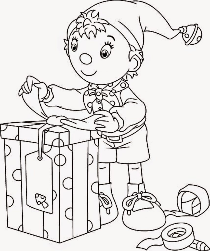 Free Printable Christmas Coloring Pages Elf