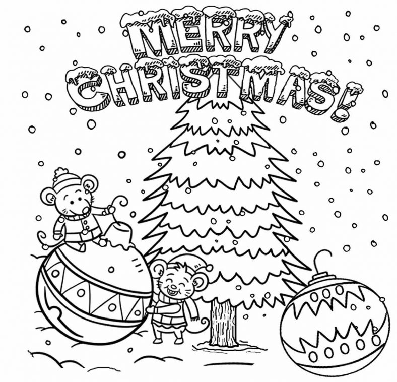 Free Printable Christmas Coloring Pages Scene