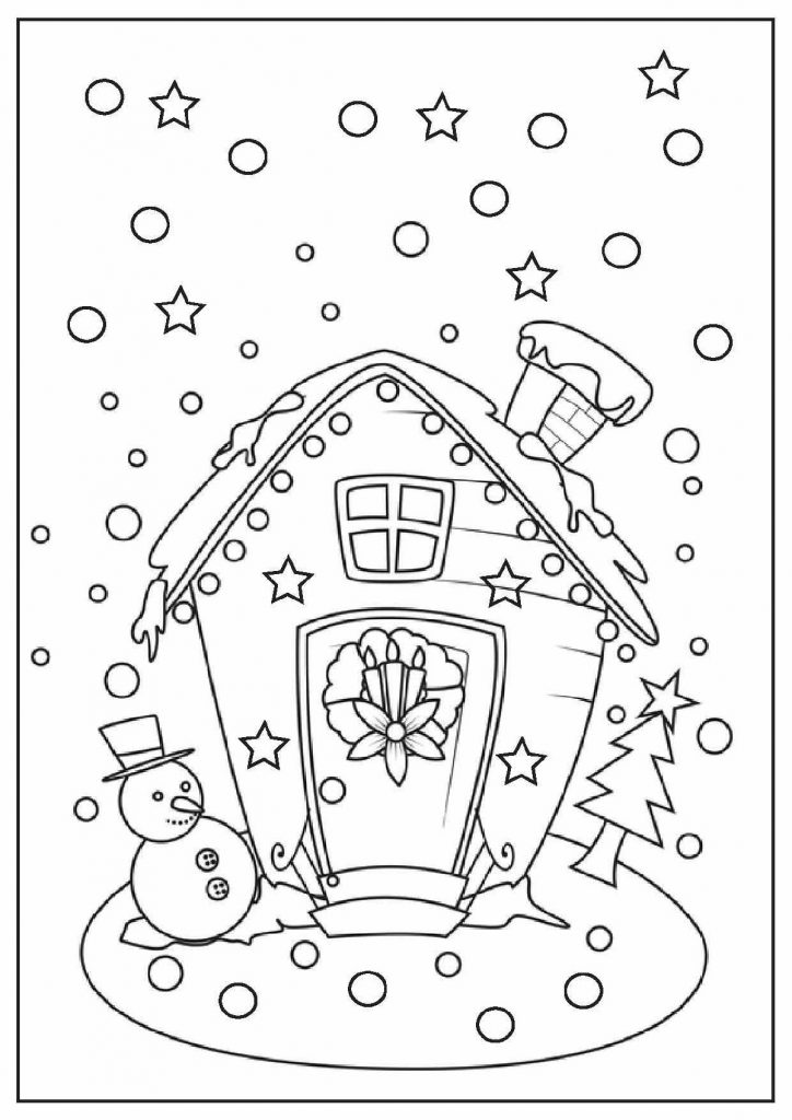 Free Printable Christmas Coloring Pages Snowing