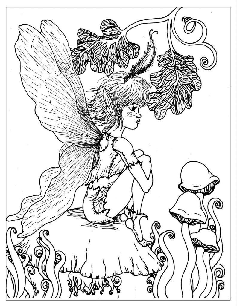 Free Printable Coloring Pages For Adults Fantasy