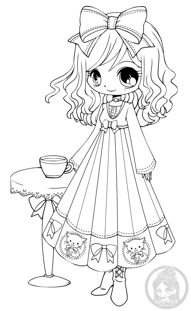 Free Printable Coloring Pages For Girls Chibi