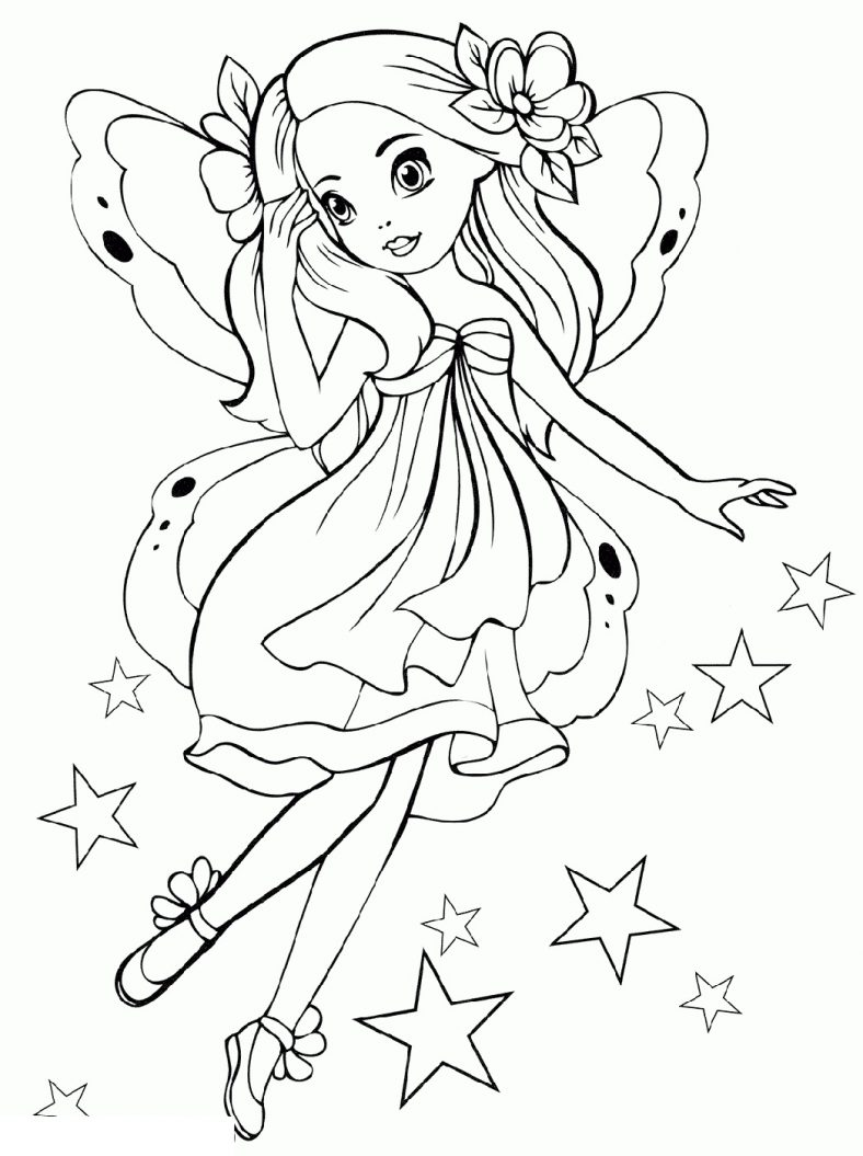 Free Printable Coloring Pages For Girls Fairy