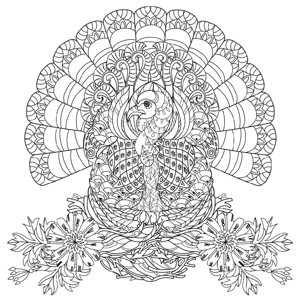 Free Printable Thanksgiving Coloring Pages Advanced