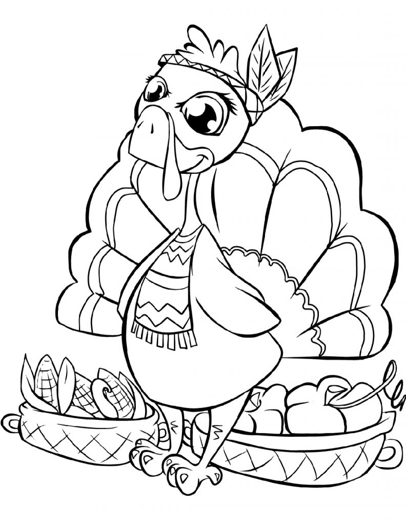 Free Printable Thanksgiving Coloring Pages Cute