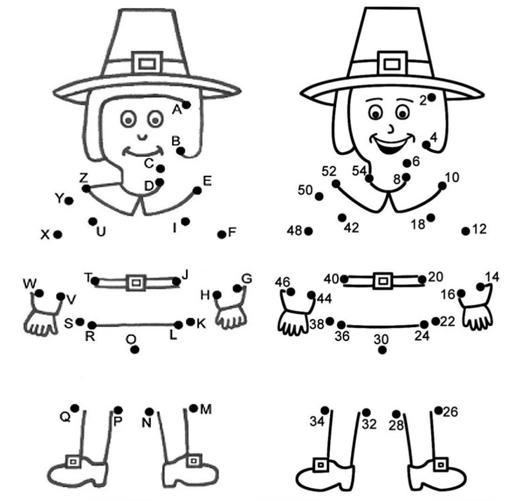 Free Printable Thanksgiving Coloring Pages Dot To Dot