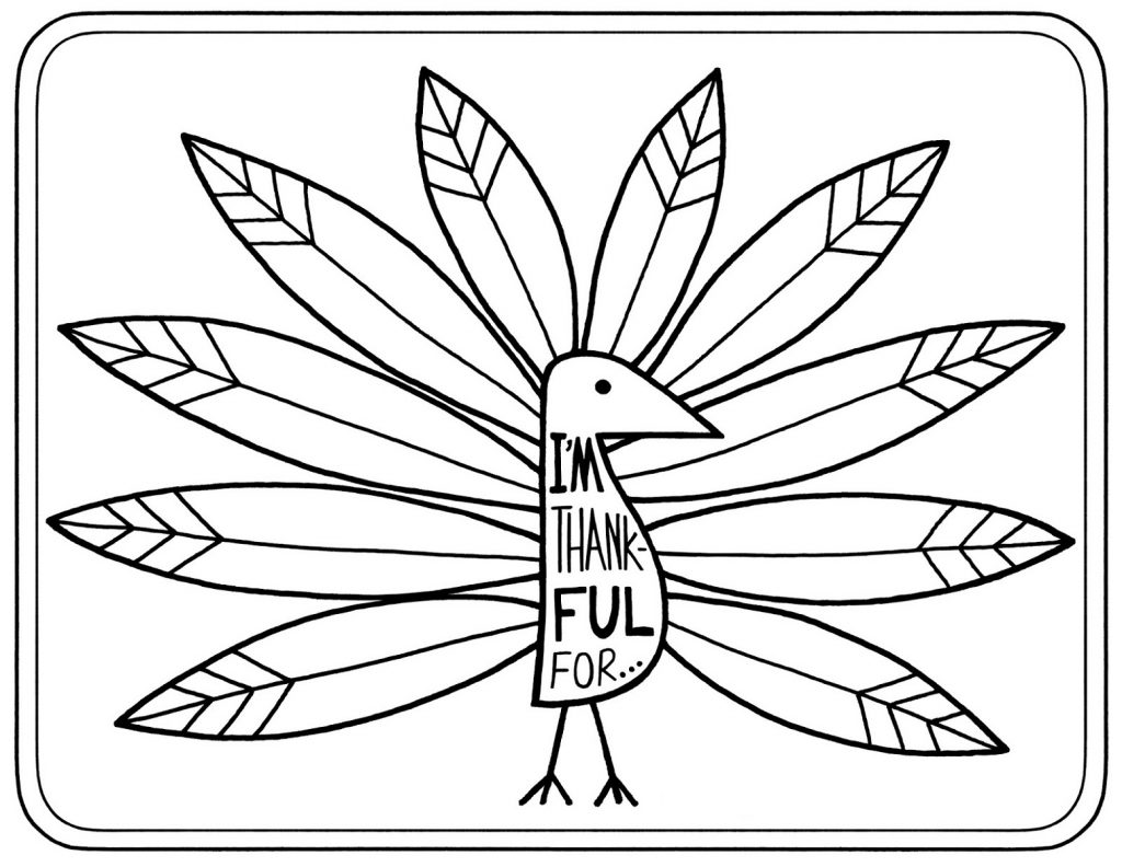 Free Printable Thanksgiving Coloring Pages Thankful
