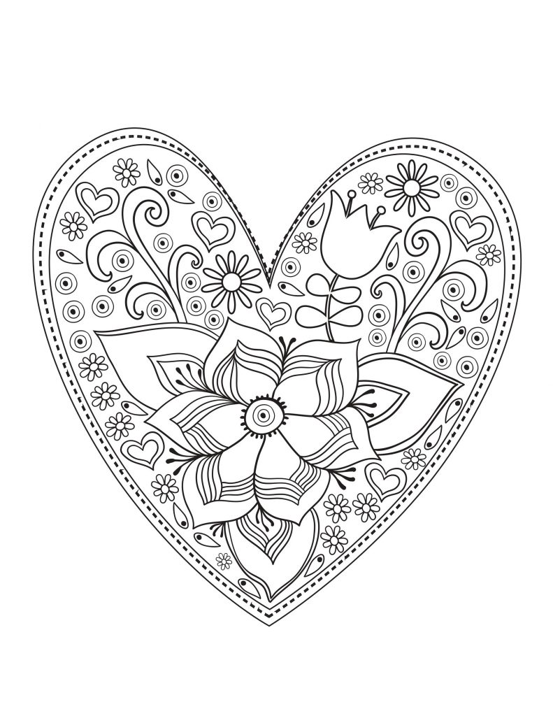 Free Printable Valentine Coloring Pages Activity