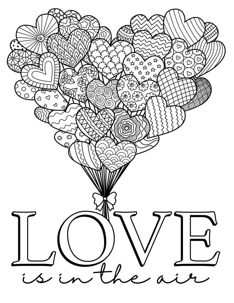 Free Printable Valentine Coloring Pages For Adults