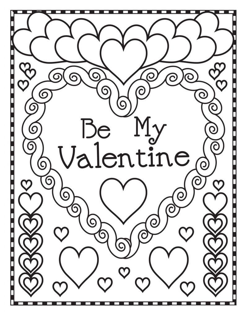 Free Printable Valentine Coloring Pages Mandala