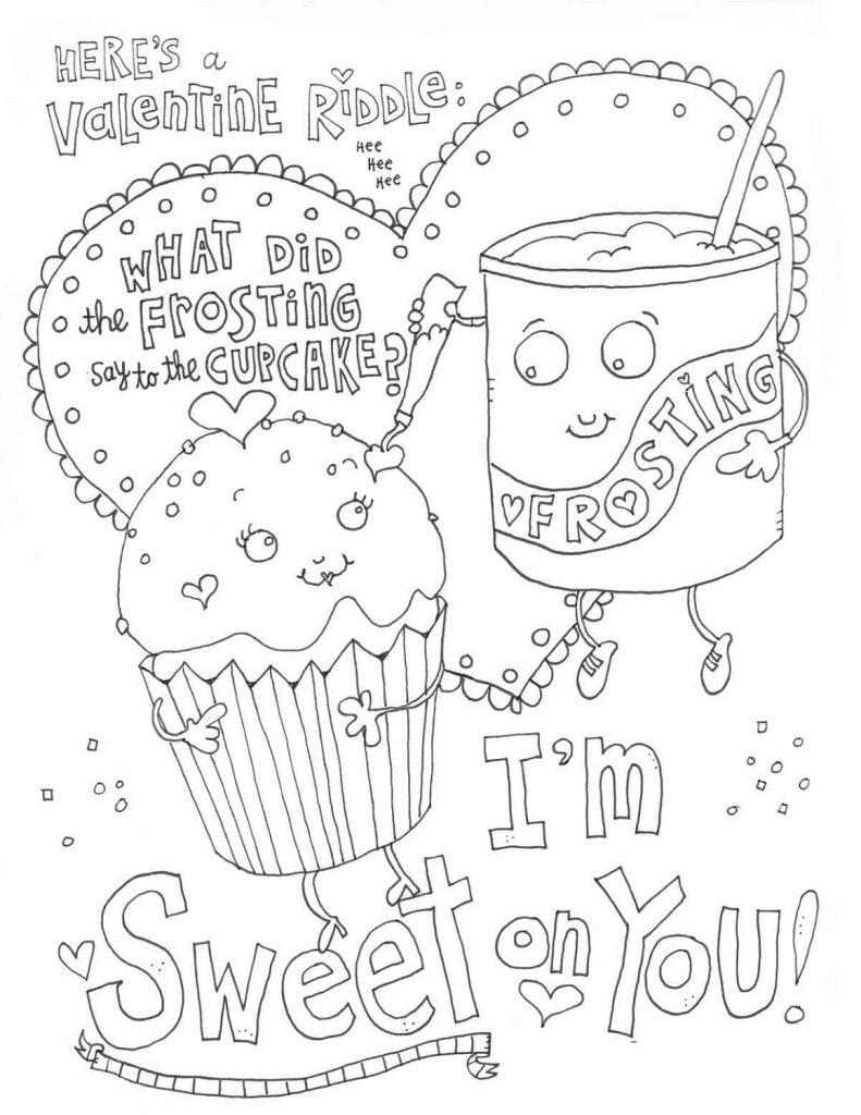 Free Printable Valentine Coloring Pages Sweet