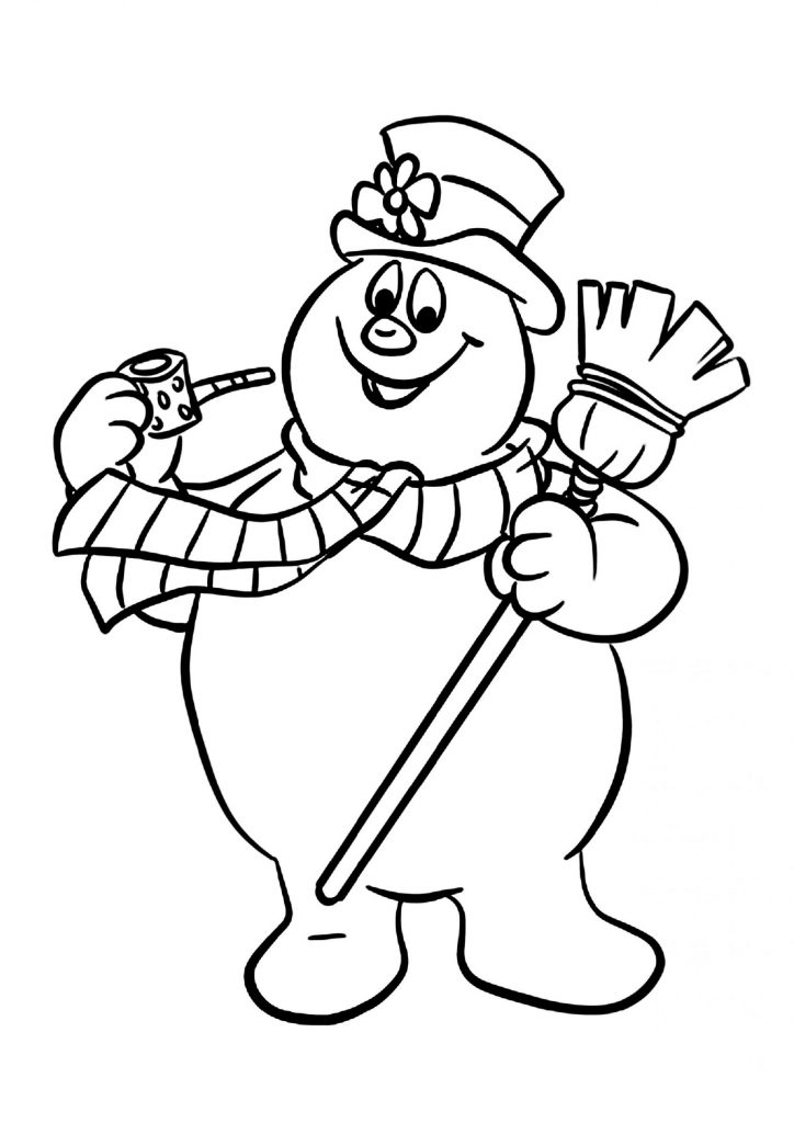Frosty The Snowman Coloring Pages Happy