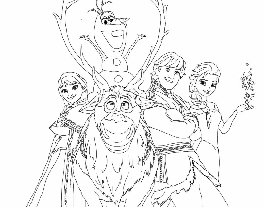 Frozen Coloring Pages Characters