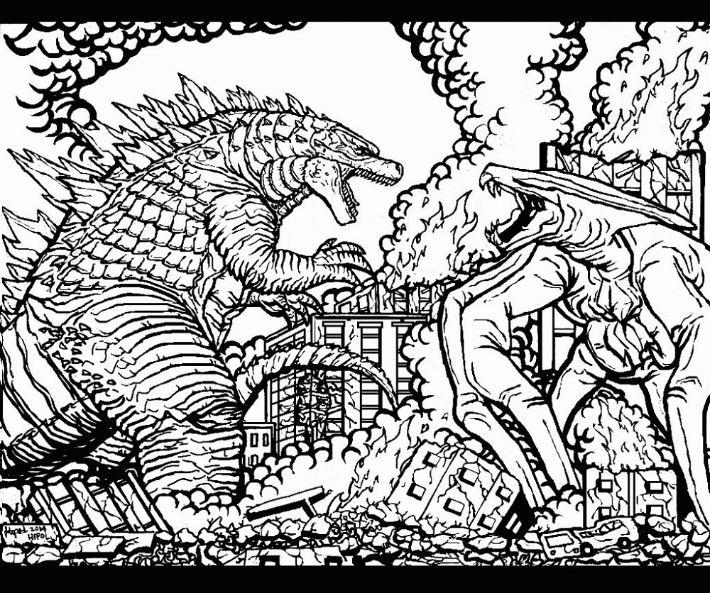 Godzilla Coloring Pages For Adults