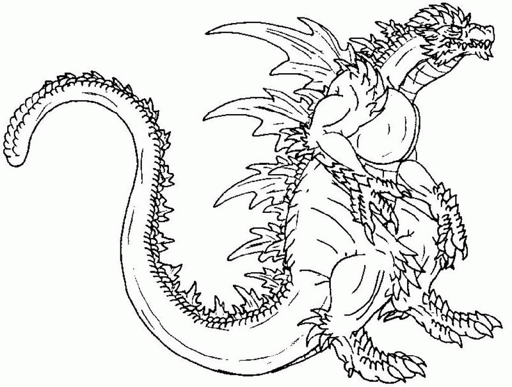 Godzilla Coloring Pages To Print