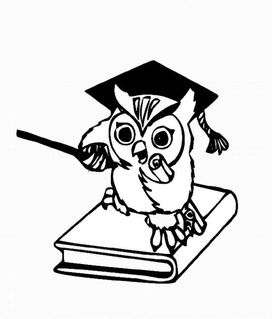 Graduate Owl Coloring Pages