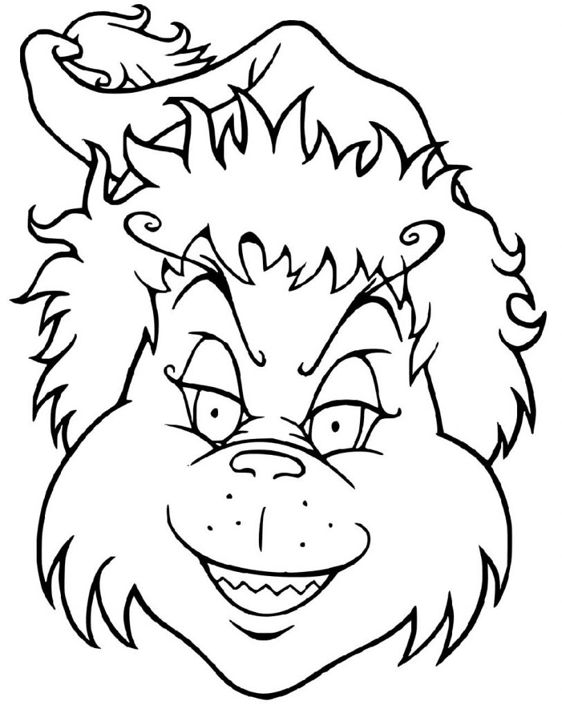 Grinch Coloring Page Face