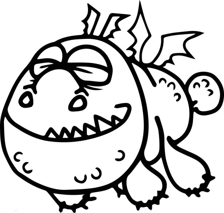 Gronkle Cute Dragon Coloring Pages