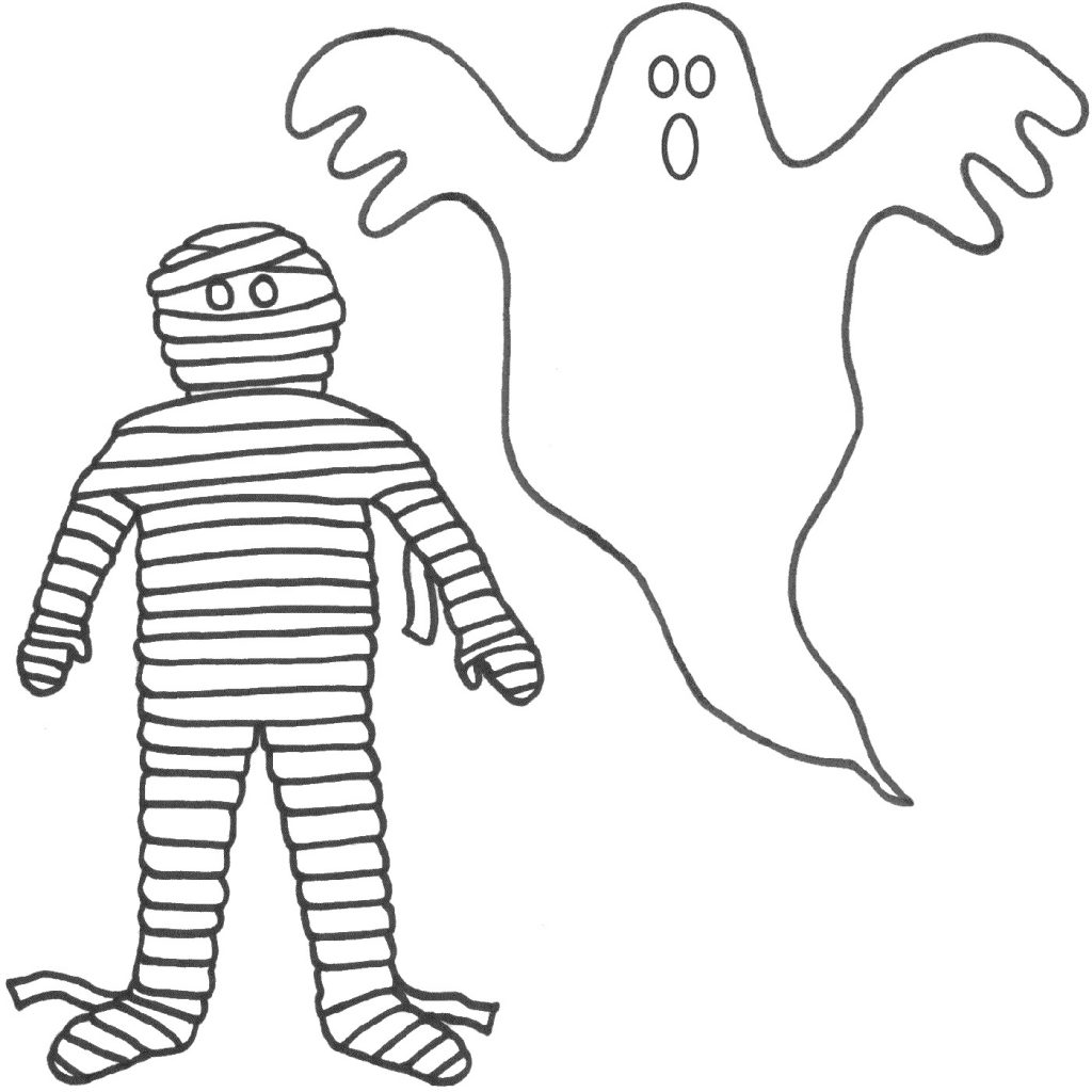 Halloween Coloring Pages For Toddlers Mummy