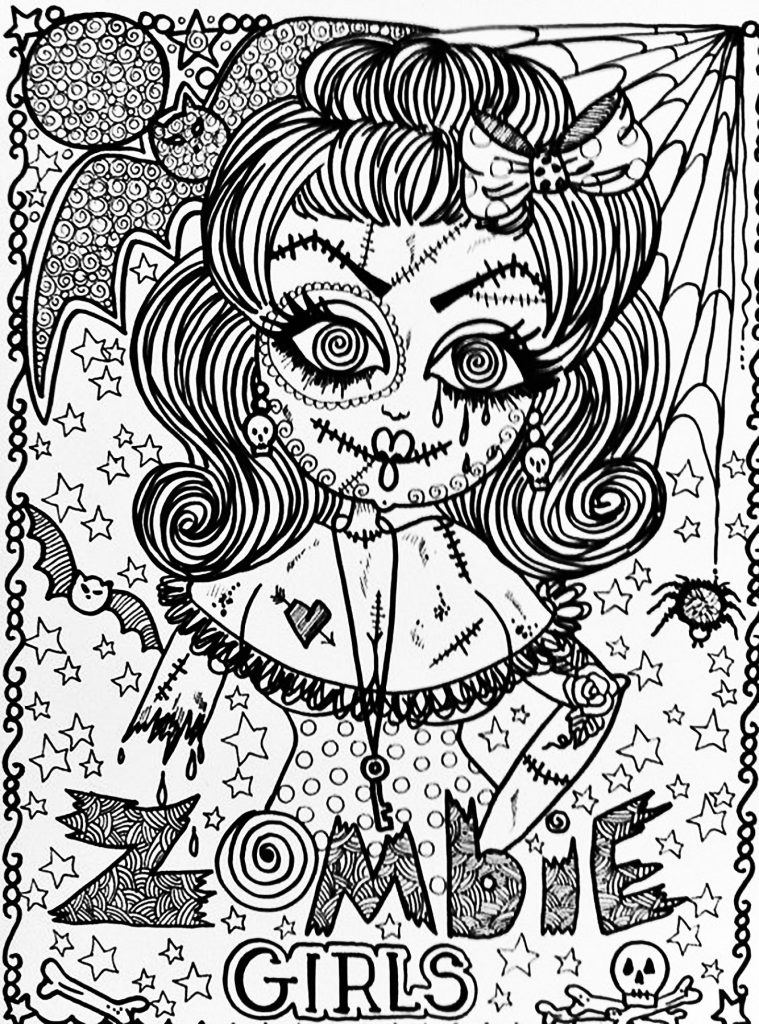 Halloween Coloring Sheets For Adults
