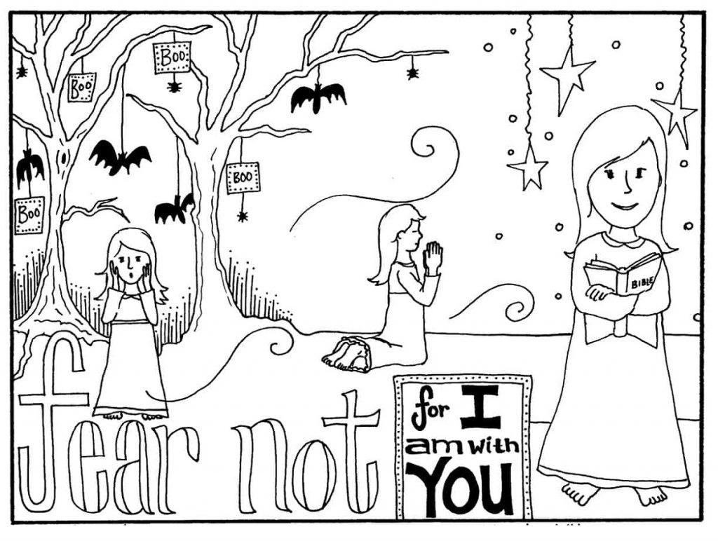 Halloween Coloring Sheets Girl