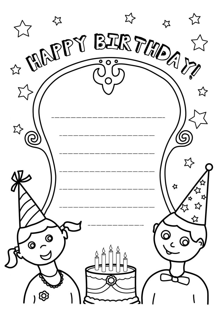 Happy Birthday Coloring Pages Wishes