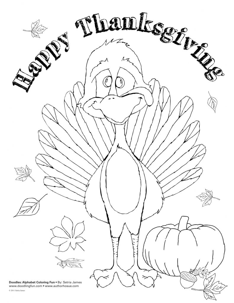 Happy Thanksgiving Coloring Pages Activity