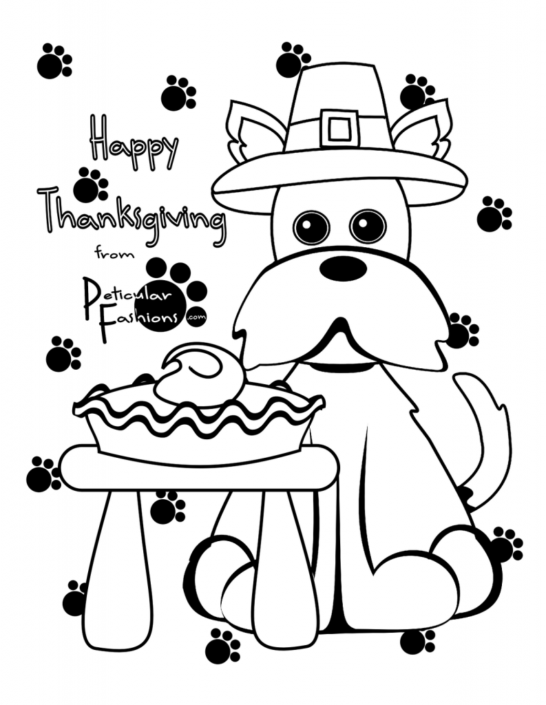 Happy Thanksgiving Coloring Pages For Kids