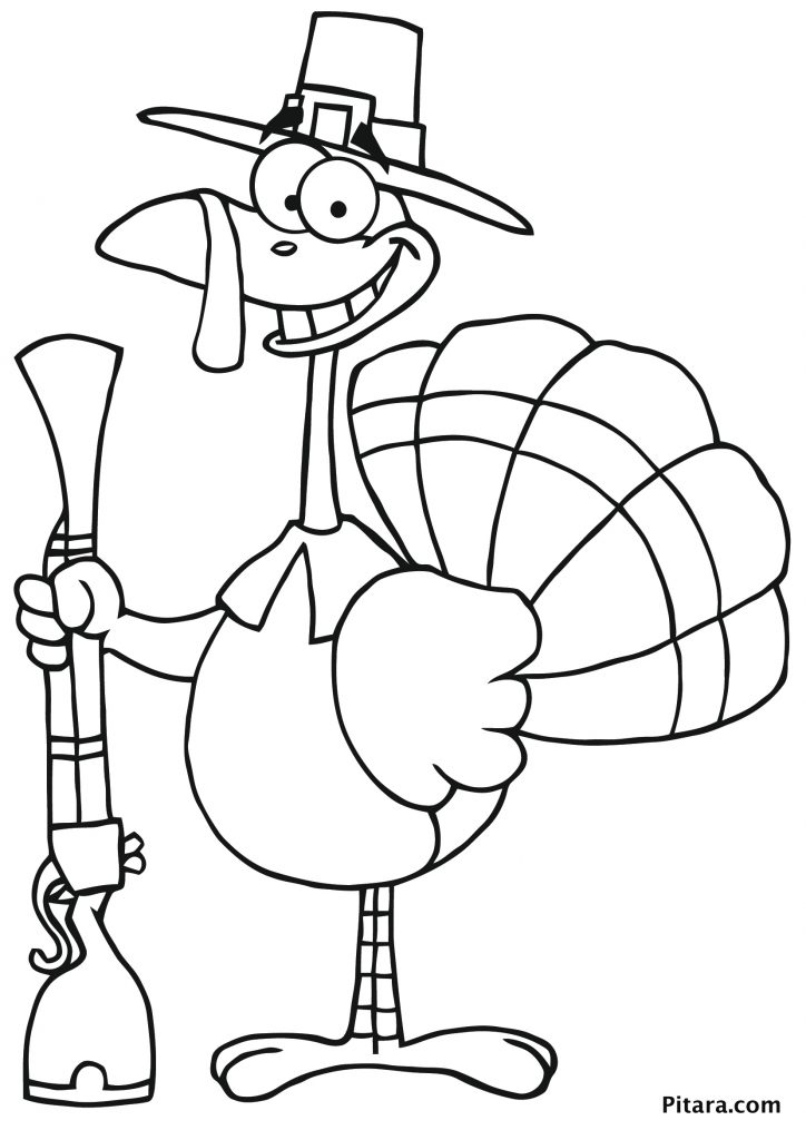 Happy Thanksgiving Coloring Pages Pilgrim