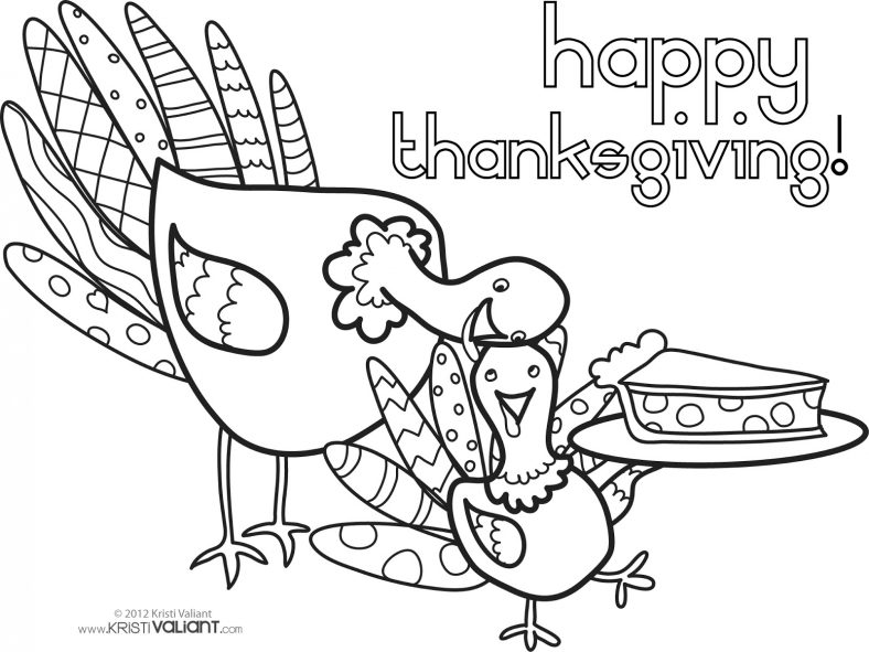 Happy Thanksgiving Coloring Pages Thankful