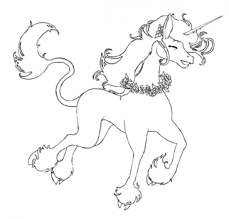 Happy Unicorn Pictures To Color