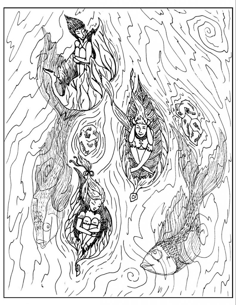 Hard Coloring Pages Fantasy