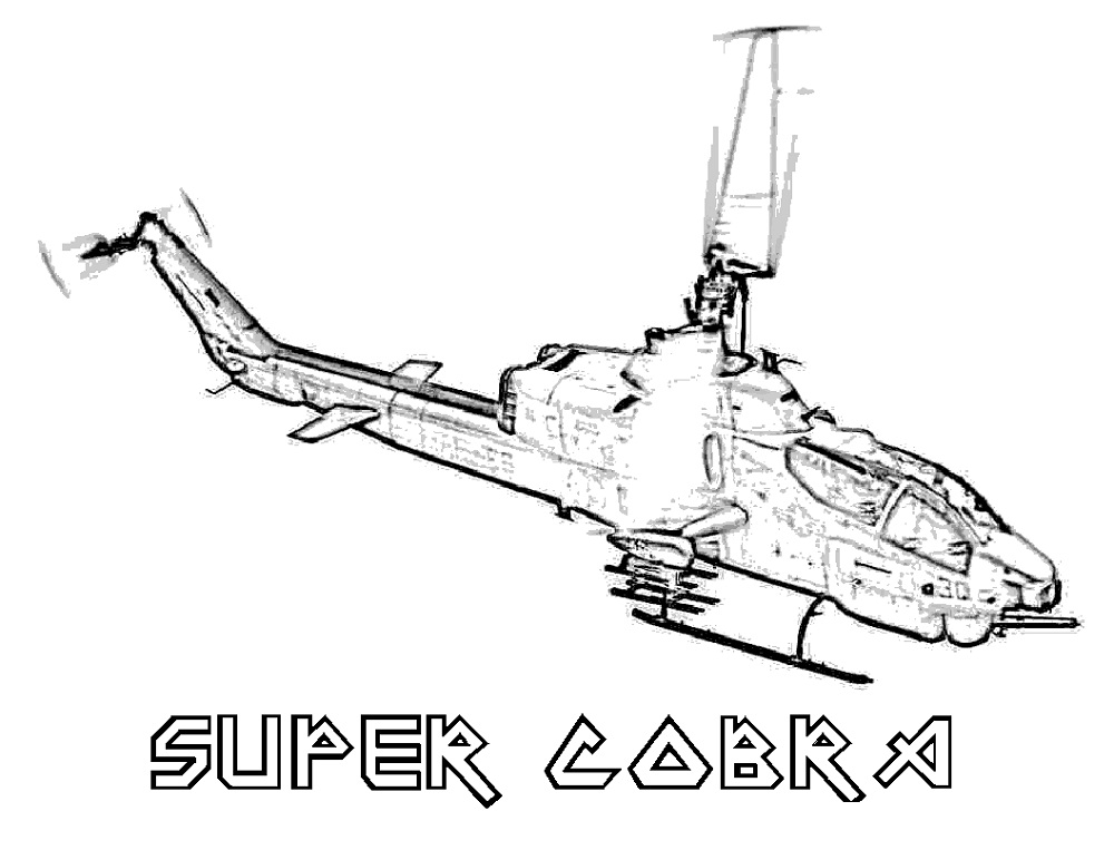Helicopter Coloring Pages Realistic