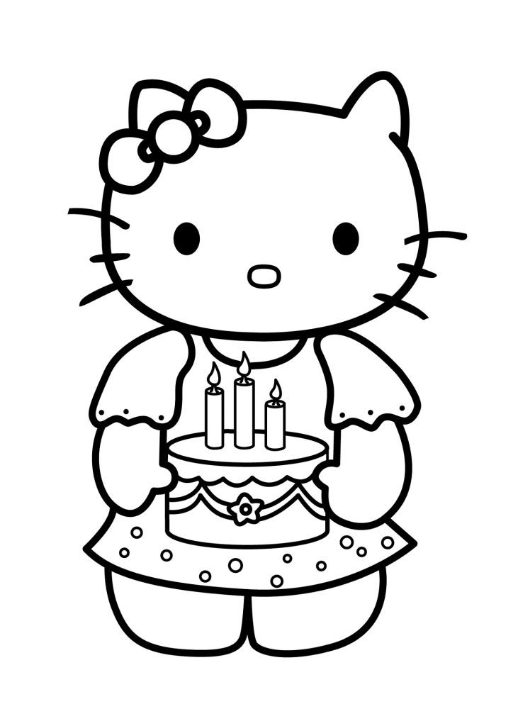 Hello Kitty Cat Coloring Pages