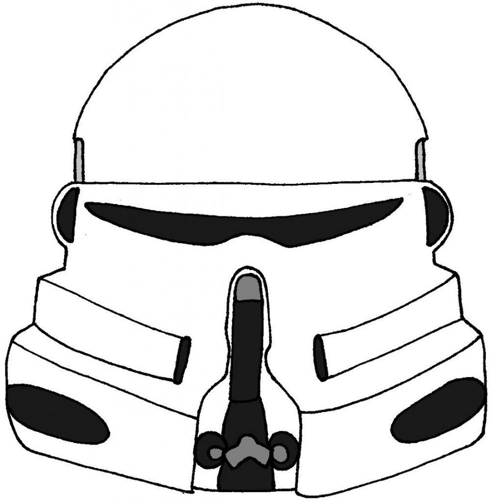 Helmet Clone Trooper Coloring Pages
