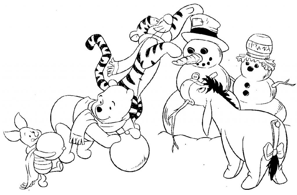 Holiday Coloring Pages Winter