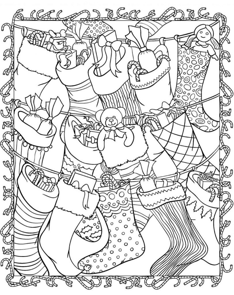 Holiday Free Christmas Coloring Pages For Adults