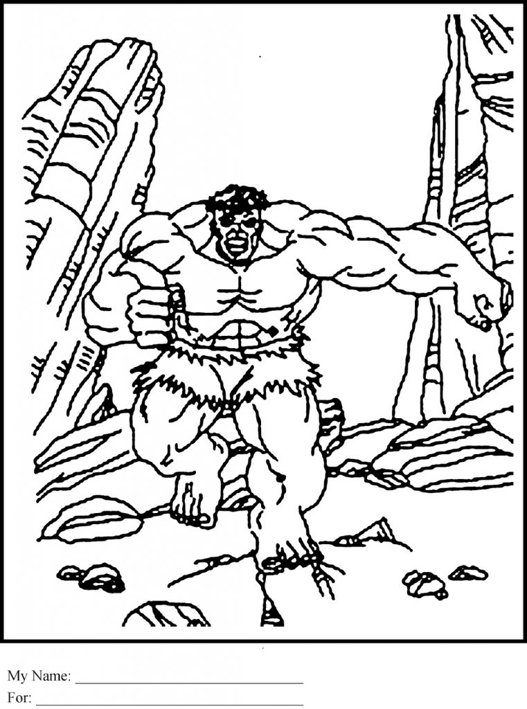 Hulk Coloring Pages Avengers