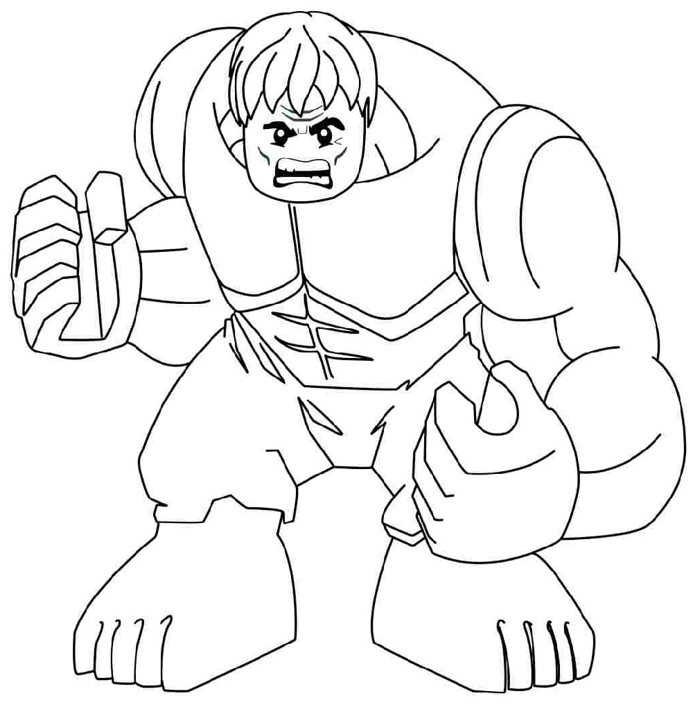 Hulk Coloring Pages Lego