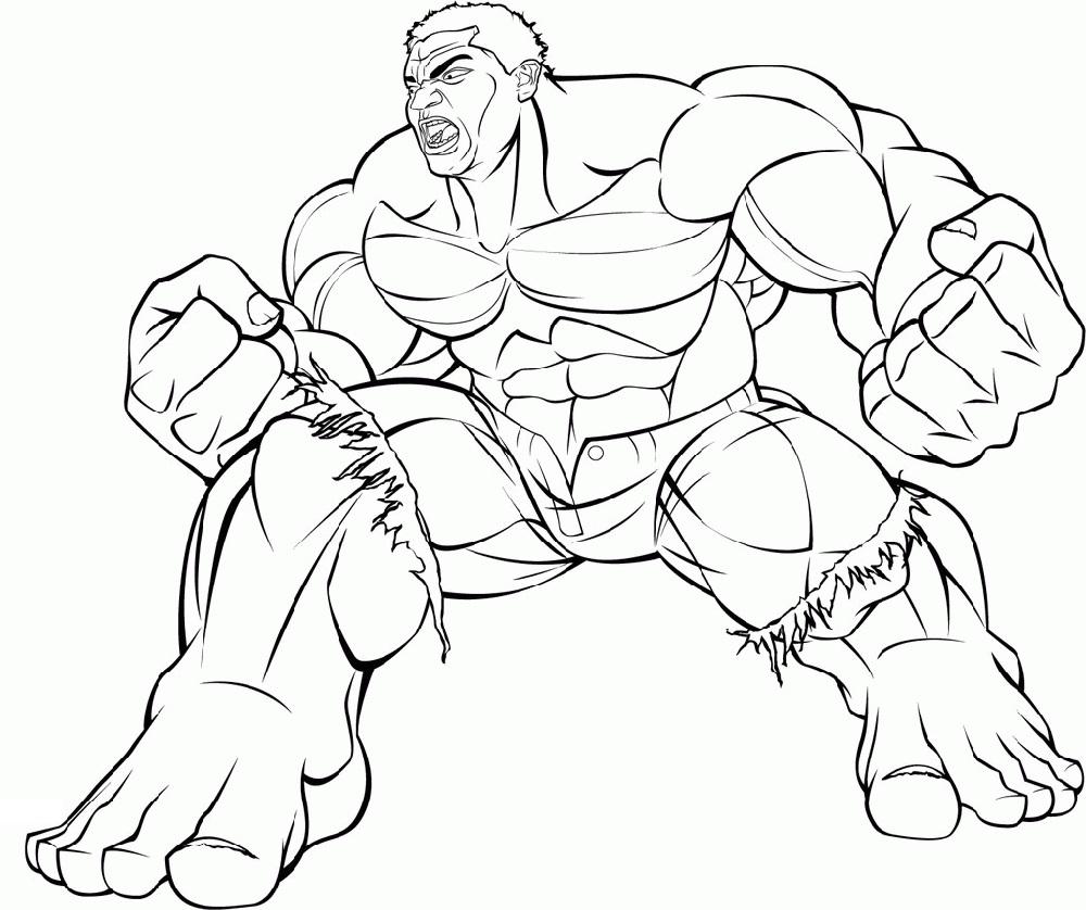 Hulk Coloring Pages Superhero