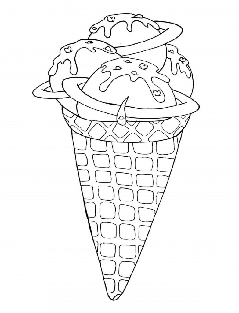 Ice Cream Coloring Pages Cone
