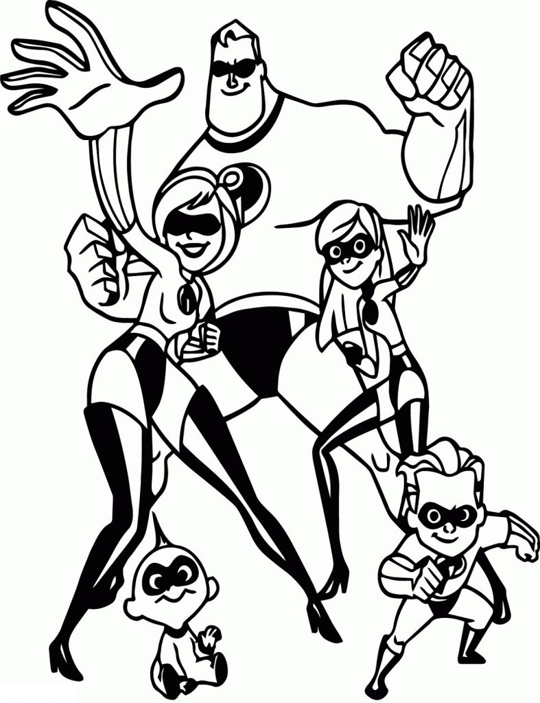Incredibles Coloring Pages Movie