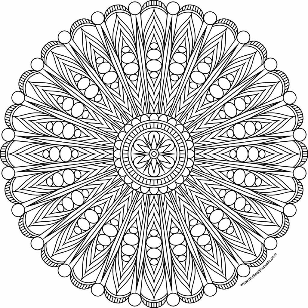 Intricate Mandala Coloring