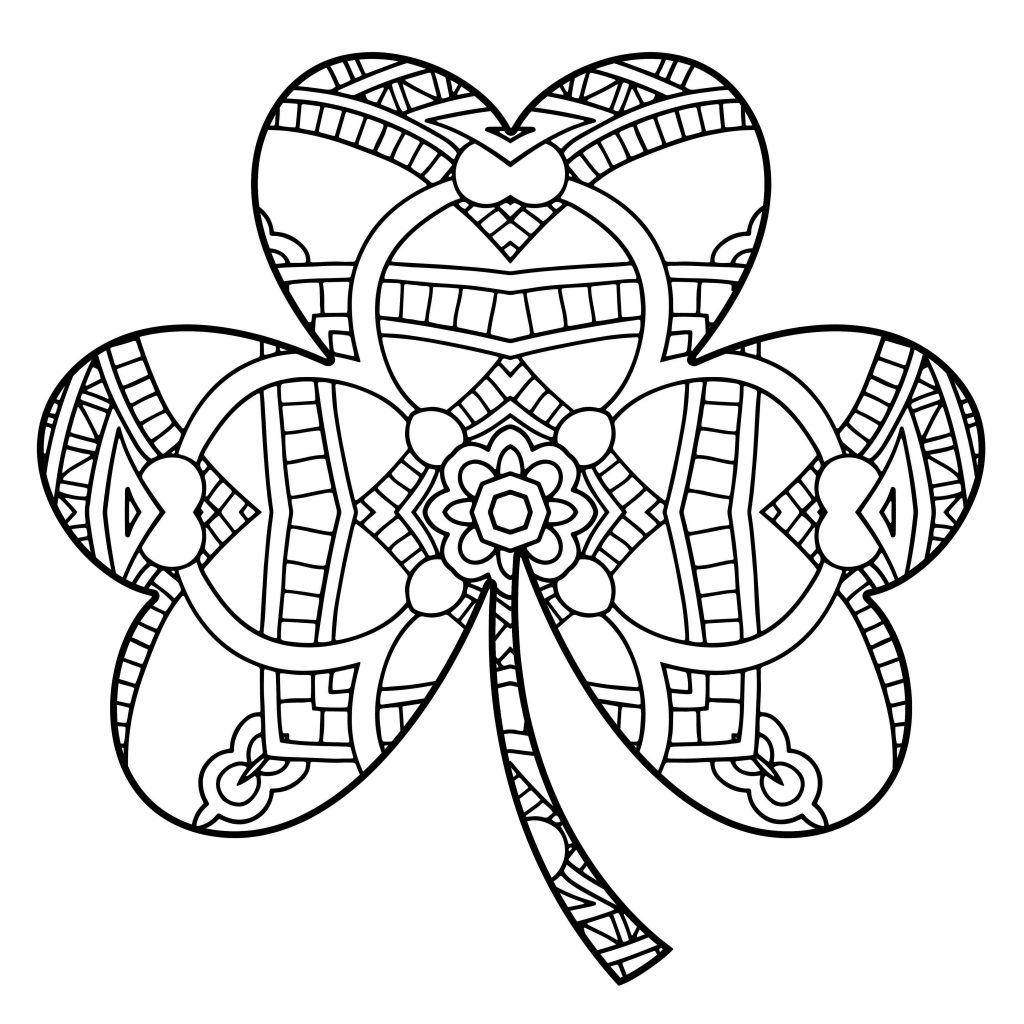Irish Shamrock Coloring Page