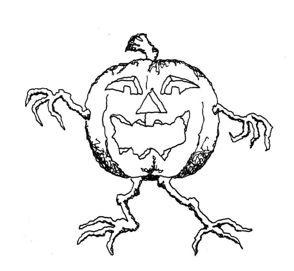 Jack O Lantern Coloring Pages Creepy