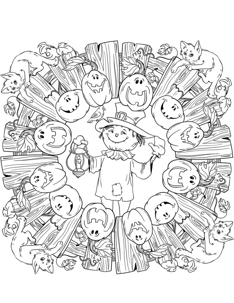 Jack O Lantern Coloring Pages Halloween