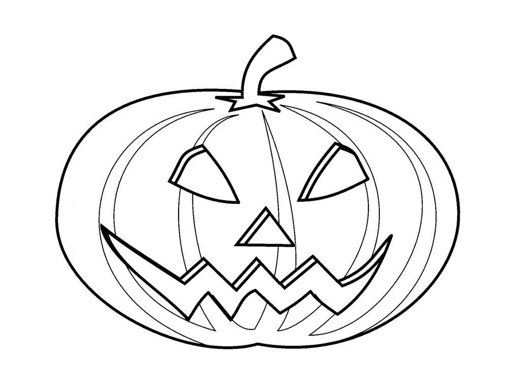 Jack O Lantern Coloring Pages Pumpkin