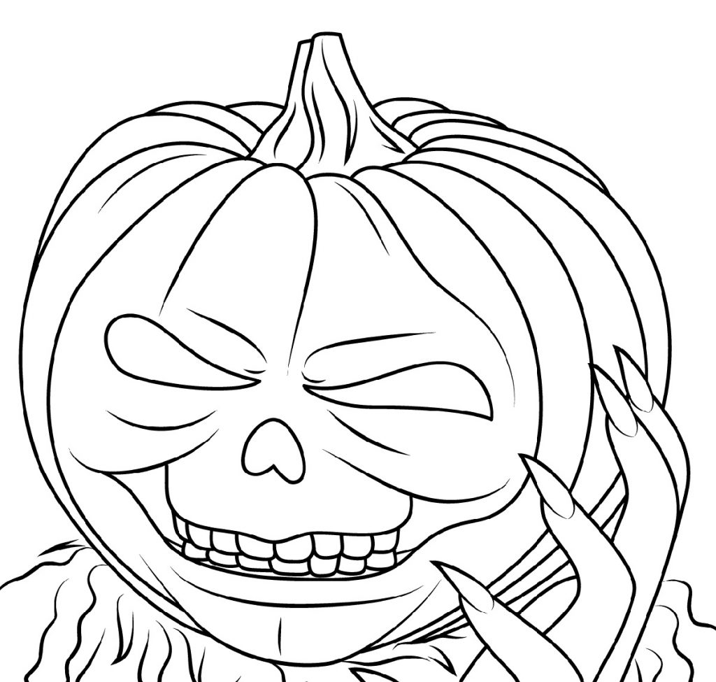 Jack O Lantern Coloring Pages Scary