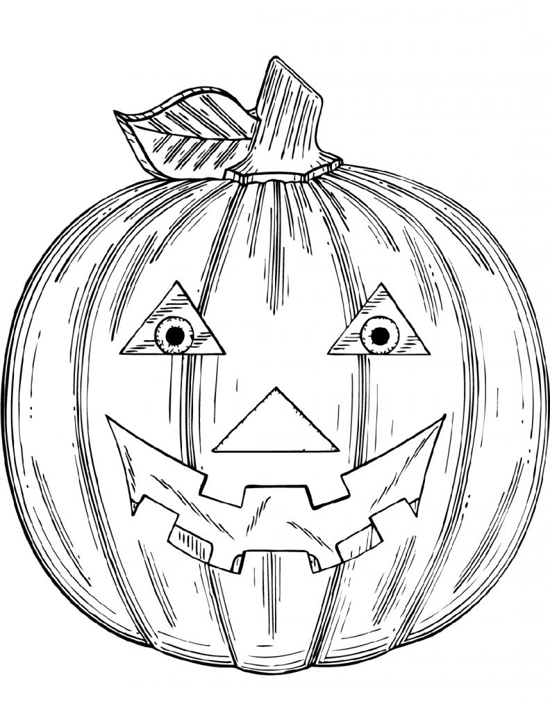 Jack O Lantern Coloring Pages Spooky