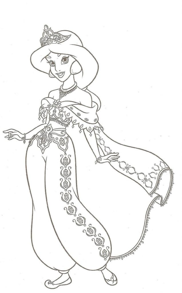 Jasmine Coloring Pages Cute