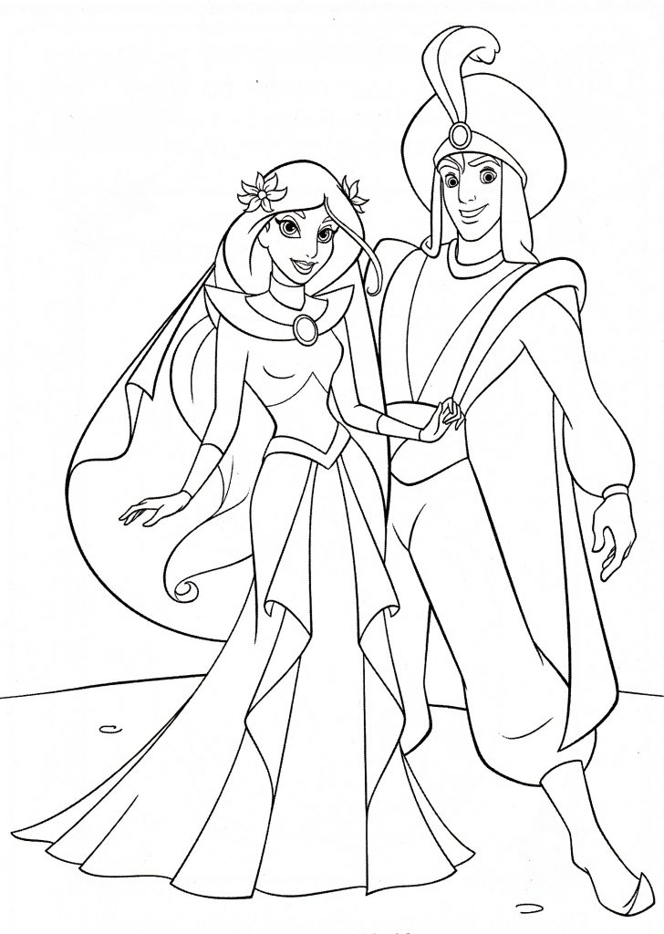 Jasmine Coloring Pages Wedding